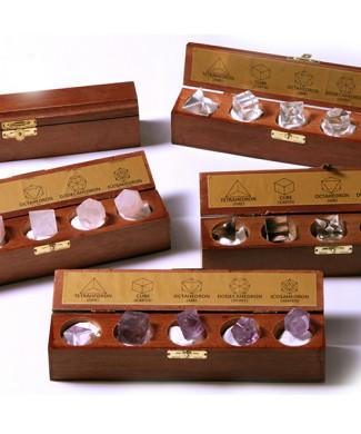 #61 Jogos Geométricos - ametista, cristal, quartzo rosa e quartzo fumê